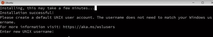 masukkan username dan password untuk ubuntu