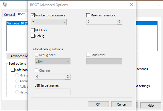 boot advanced opitons