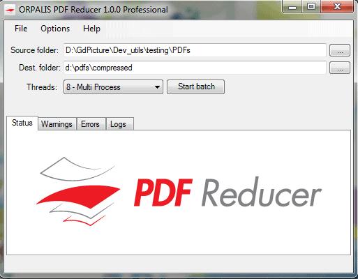 cara kompres dan mengecilkan ukuran PDF menggunakan Orpalis PDF Reducer