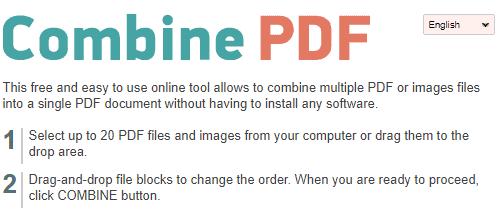 layanan merge pdf online - CombinePDF