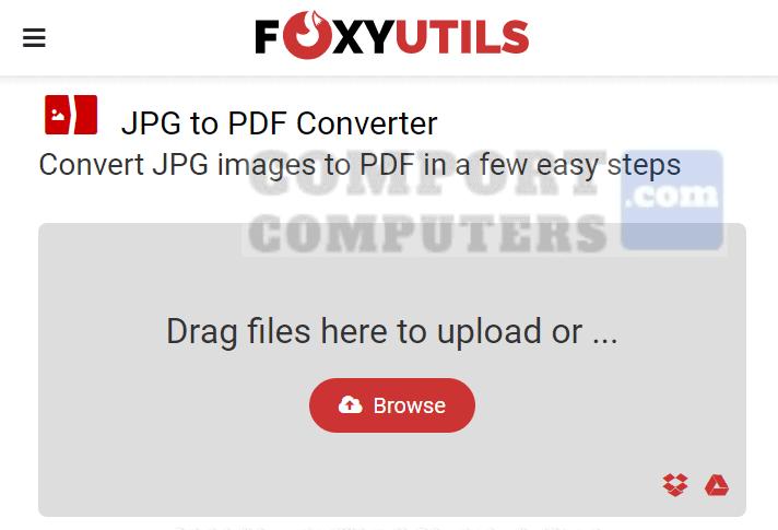 FoxyUtils - Convert JPG to PDF Online
