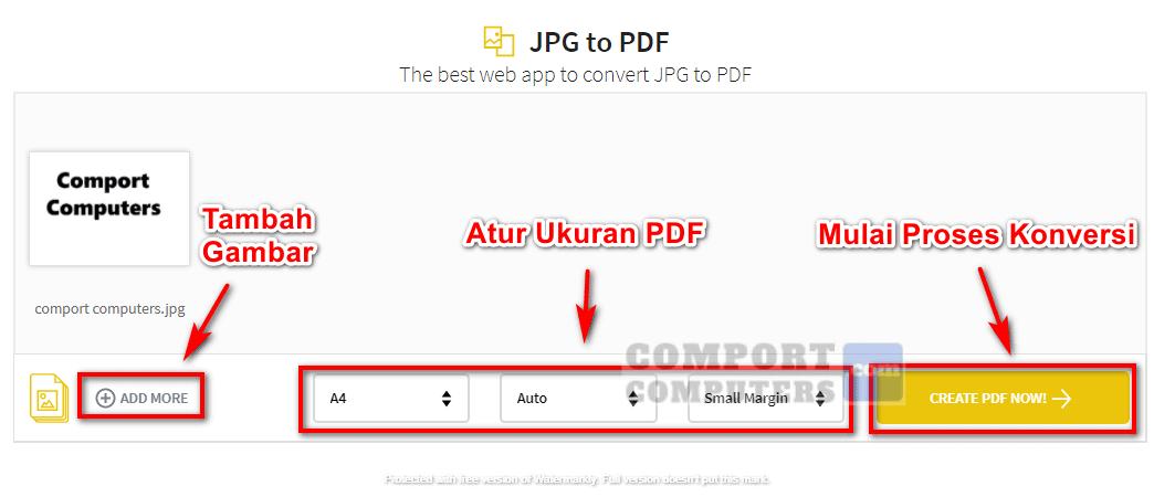 Cara Mengubah JPG ke PDF secara online menggunakan SmallPDF